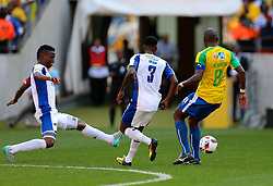 Thamsanqa Sangweni of Chippa United (L) during the 1st leg of the MTN8 Semi Final between Chippa United and Mamelodi Sundowns held at the Nelson Mandela Bay Stadium in Port Elizabeth, South Africa on the 11th September 2016<br /><br />Photo by: Richard Huggard / Real Time Images