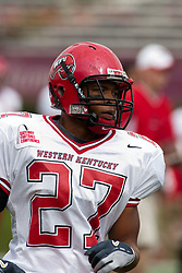 08 OCT 2005 WKU Hilltopper G.J.Woolridge. The Illinois State University Redbirds roped and tied the Western Kentucky University Hilltoppers in regulation but loosened the noose in Overtime as the Hilltoppers take the honors with a 37 - 24 Victory in Gateway Conference action at Hancock Stadium on Illinois State's campus in Normal IL.