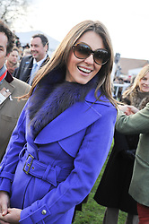 LIZ HURLEY at the 2012 Hennessy Gold Cup at Newbury Racecourse, Berkshire on 1st December 2012