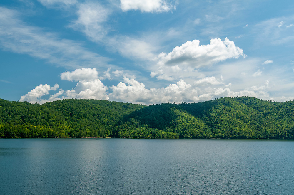 Chilhowee Lake at the end of the Foothills Parkway on U.S. Highway 129 in Chilhowee, Tennessee on Wednesday, August 12, 2020. Copyright 2020 Jason Barnette