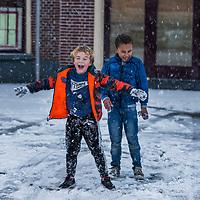 Sneeuw in Sneek