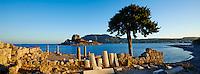 Grece, Dodecanese, ile de Kos, baie de Kefalos, ruines de la basilique Agios Stefanos // Greece, Dodecanese, Kos island, Kefalos bay, Agios Stefanos church ruins