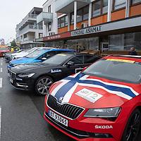 Fra starten i Lyngdal av Tour of Norway sykkelritt etappe 2: Lyngdal - Kristiansand.