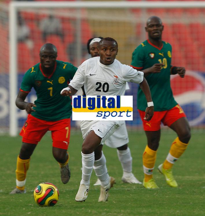 Photo: Steve Bond/Richard Lane Photography.<br />Cameroun v Zambia. Africa Cup of Nations. 26/01/2008. Felix Katongo looks for options
