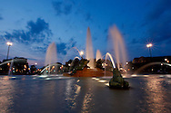 The fountain in Logan Circle in Philadelphia, Pennsylvania