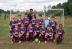 11 April 2015. Hammond, Louisiana.<br /> U10 New Orleans Jesters Elites, team green at the Strawberry Cup hosted by the South Tangipahoa Youth Soccer Association (STYSA).<br /> Photo; Charlie Varley/varleypix.com