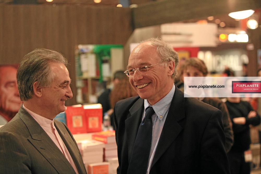 Denis Jeambar et Jacques Attali - Salon du livre 2007 à Paris - Le 23/03/2007 - JSB / PixPlanete