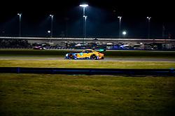 DAYTONA, FLORIDA - JANUARY 25, 2020: Riley Motorsports, Lawson Aschenbach, Felipe Fraga, Ben Keating and Gar Robinson and Mercedes-AMG GT3 Evo during the 58th running of the IMSA WeatherTech Sports Car Championship Rolex 24 at Daytona International Speedway.