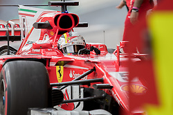 November 10, 2017 - Sao Paulo, Sao Paulo, Brazil - 5 SEBASTIAN VETTEL (GER) of Scuderia Ferrari, during the free training day for the Formula One Grand Prix of Brazil at Interlagos circuit, in Sao Paulo, Brazil. The grand prix will be celebrated next Sunday, November 12. (Credit Image: © Paulo Lopes via ZUMA Wire)