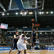 Anadolu Efes's Oliver Lafayette (R) during their Turkish Airlines Euroleague Basketball Top 16 Group E Game 4 match Anadolu Efes between Olympiacos at Sinan Erdem Arena in Istanbul, Turkey, Wednesday, February 08, 2012. Photo by TURKPIX