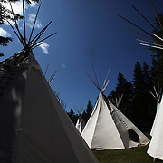 Teepees on the Siletz reservation. Bud Lane is the only remaining fluent speaker in the native language of the Siletz tribe in Western Oregon. Working with a team at Swarthmore College, Lane recorded a Siletz Dee-ni talking dictionary. Until earlier this year, it was only for tribal use, an internally focused cultural project. Then, in February, the tribe allowed Siletz to go global, on the web.