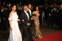 Egyptian actress Menna Shalaby, Egyptian director Yousry Nasrallah, Bassem Samra, Nahed El Sebaï, arriving at the gala screening of the film Baad El Mawkeaa at the 65th Cannes Film Festival. Thursday 17th May 2012, the red carpet at Palais Des Festivals in Cannes, France.