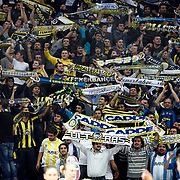 Fenerbahce's Supporters fans during their Turkish Basketball woman league derby match Fenerbahce between Galatasaray at Ulker Sports Arena in Istanbul, Turkey, wednesday, December 26, 2012. Photo by Aykut AKICI/TURKPIX