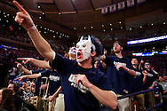 30 MAR 2014: University of Connecticut takes on the Michigan State University at the Madison Square Garden in New York, NY. ©Brett Wilhelm