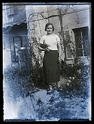 young adult woman standing in the garden France 1934