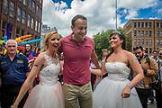 25/6/17 Taoiseach Leo Varadkar at Dublin Pride Parade at St Stephens Green in Dublin. Picture: Arthur Carron