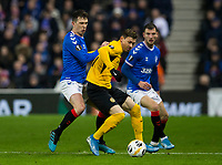 Football - 2019 / 2020 UEFA Europa League - Group G: Rangers vs. BSC Young Boys<br /> <br /> Christian Fassnacht of Young Boys FC vies with Ryan Jack of Rangers, at Ibrox Stadium.<br /> <br /> COLORSPORT/BRUCE WHITE