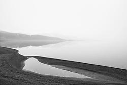 Fog at the lake Kleifarvatn, Iceland - Þoka við Kleifarvatn