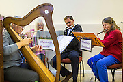 The Wadebridge streetband performing at the WREN AGM. They are one of the community projects supported by the money raised from FITS at WREN community energy. Wadebridge, Cornwall. UK