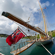 Elena Classic Schooner.<br /> <br /> 2015. Wonderful yachts and passionate sailors, from all over the world, are gathering in Antigua for the 28th edition of the Antigua Classic Yacht Regatta, sponsored by Panerai.