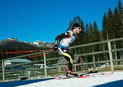 BEATRIX Jean Guillaume (FRA) competes during Men 15 km Mass Start at day 4 of IBU Biathlon World Cup 2014/2015 Pokljuka, on December 21, 2014 in Rudno polje, Pokljuka, Slovenia. Photo by Vid Ponikvar / Sportida