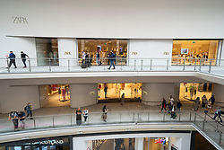 Edinburgh, Scotland, UK. 24 June 2021. First images of the new St James Quarter which opened this morning in Edinburgh. The large retail and residential complex replaced the St James Centre which occupied the site for many years. Pic; New Zara store inside mall. Iain Masterton/Alamy Live News