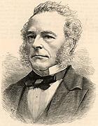 George Gabriel Stokes (1819-1903) British mathematical physicist born in County Sligo, Ireland.  Lucasian professor of mathematics at Cambridge University, England (1849-1903). President of the British Association for the Advancement of Science (1869).