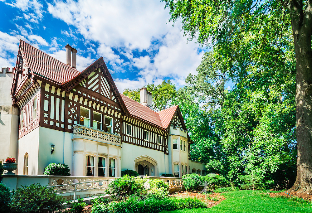 Callanwolde Fine Arts Center is housed within a 27,000 square foot Gothic-Tudor Revival mansion, nestled on 12 acres in Atlanta, Georgia. The house, built in 1920, was the home of Charles Howard Candler, son of the founder of the Coca-Cola Company. The house was designed by architect Henry Hornbostel. Today, Callanwolde operates as a non-profit organization devoted to teaching and promoting the visual, literary and performing arts. (Photo by Carmen K. Sisson/Cloudybright)