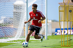 VALE DO LOBO, PORTUGAL - Wednesday, May 25, 2016: Wales' Adam Henley during day two of the pre-UEFA Euro 2016 training camp at the Vale Do Lobo resort in Portugal. (Pic by David Rawcliffe/Propaganda)