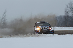 06.02.2014, Torsby, Hagfors, SWE, FIA, WRC, Schweden Rallye, Tag 2, im Bild Robert Kubica/Maciej Szczepaniak (RK M-Sport WRT/Fiesta RS WRC), Action / Aktion // during the FIA WRC Sweden Rally at the Torsby in Hagfors, Sweden on 2014/02/07. EXPA Pictures © 2014, PhotoCredit: EXPA/ Eibner-Pressefoto/ Bermel<br /> <br /> *****ATTENTION - OUT of GER*****