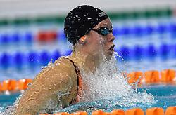 03-04-2015 NED: Swim Cup, Eindhoven<br /> Monique Nijhuis wint in een Nederlands record de 100 meter schoolslag