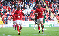 Charlton Athletic's Jake Forster Caskey celebrates after scoring their fourth goal