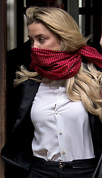 © Licensed to London News Pictures. 09/07/2020. London, UK. American Actress AMBER HEARD arrives at the High Court in London where Johnny Depp is in a legal dispute with UK tabloid newspaper The Sun over allegations he assaulted his former wife, Amber Heard. Photo credit: Ben Cawthra/LNP