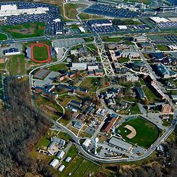 Aerial views of Delaware state University in Dover Delaware