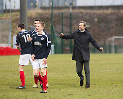 Falkirk team at the end..Hamilton 1 v 2 Falkirk, Scottish Cup quarter-final, Saturday, 2nd March 2013..©Michael Schofield.
