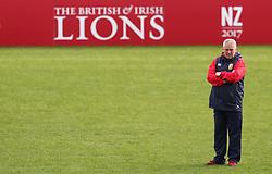 British & Irish Lions Warren Gatland during the captain's run at the QBE Stadium, Auckland.