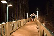 Bridge leads to Taos Ski Valley shops