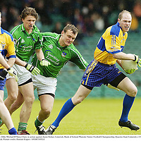 21 May 2006; Michael O'Shea, Clare, in action against Jason Stokes, Limerick. Bank of Ireland Munster Senior Football Championship, Quarter-final, Limerick v Clare, Gaelic Grounds, Limerick. Picture credit; Damien Eagers / SPORTSFILE