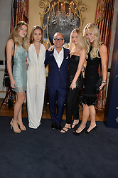 Left to right, the HON.CHLOE ST.JOHN, INDIA MCTAGGART, TOUKER SULEYMAN, LADY ST.JOHN OF BLETSOE and the HON.ATHENE ST.JOHN at an evenig of Jewellery & Photography to launch the Buccellati 'Opera Collection' held at Spencer House, London on 21st October 2015.