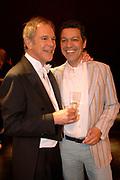 Premiere van Purper 100 - een vooruitblik in Theater de flint in Amersfoort <br /> Op de foto: Jos Brink en Frank Sanders