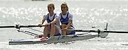 2002 FISA World Cup. Hazewinkel. BEL.       Friday  14/06/2002     .email images@Intersport-images.com.[Mandatory Credit: Peter Spurrier/Intersport Images]  .                                 /06/2002.Rowing    .GBR W2- Rosamond Carslake and Beverley Gough, Rowing, FISA WC.Hazenwinkel, BEL