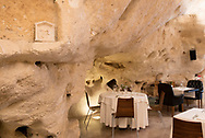 """Interior of the restaurant """"I Baccanti"""" one of the most exclusive of the city"""