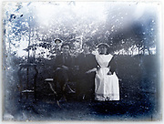 outdoors in garden group portrait of young adult people France ca 1930s
