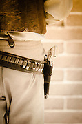 Cowboy's gun belt and pistol, Tombstone, Arizona USA