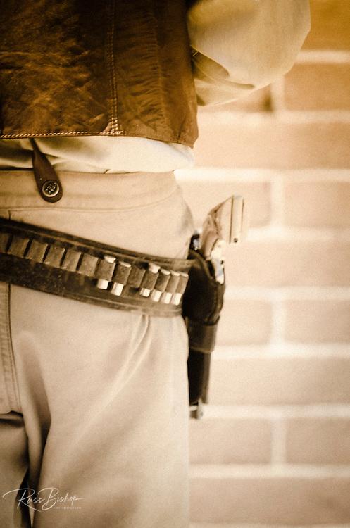 Cowboy's gun belt and pistol, Tombstone, Arizona USA