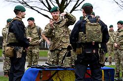 February 20, 2019 - Plymouth, United Kingdom - Image licensed to i-Images Picture Agency. 20/02/2019. Plymouth, United Kingdom.  Prince Harry, The Duke of Sussex, Captain General Royal Marines, visits 42 Commando Royal Marines  in Plymouth, United Kingdom. (Credit Image: © Pool/i-Images via ZUMA Press)
