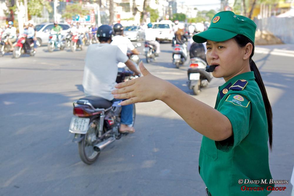 Woman Directng Traffic