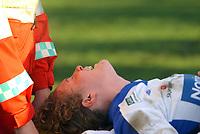 Fottball Toppserien damer seriefinale Trondheims-Ørn - Kolbotn<br /> Isabell Herlovsen bæres av banen med store smerter<br /> Foto: Carl-Erik Eriksson, Digitalsport