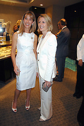 Left to right, CAROLINE ARMSTRONG-JONES and VISCOUNTESS LINLEY at an evening of private shopping in aid of Elizabeth Fitzroy Support at Tiffany & Co, 145 Sloane Street, London on 14th May 2008.<br />