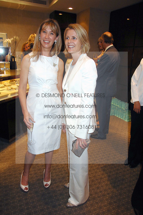 Left to right, CAROLINE ARMSTRONG-JONES and VISCOUNTESS LINLEY at an evening of private shopping in aid of Elizabeth Fitzroy Support at Tiffany & Co, 145 Sloane Street, London on 14th May 2008.<br /><br />NON EXCLUSIVE - WORLD RIGHTS